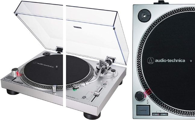 giradiscos de traccion directa marca Audio-Technica modelo AT-LP120X